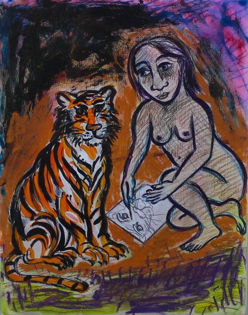 Eileen Cooper, 'Drawing Tiger Portrait', 2003, Castlegate House Gallery