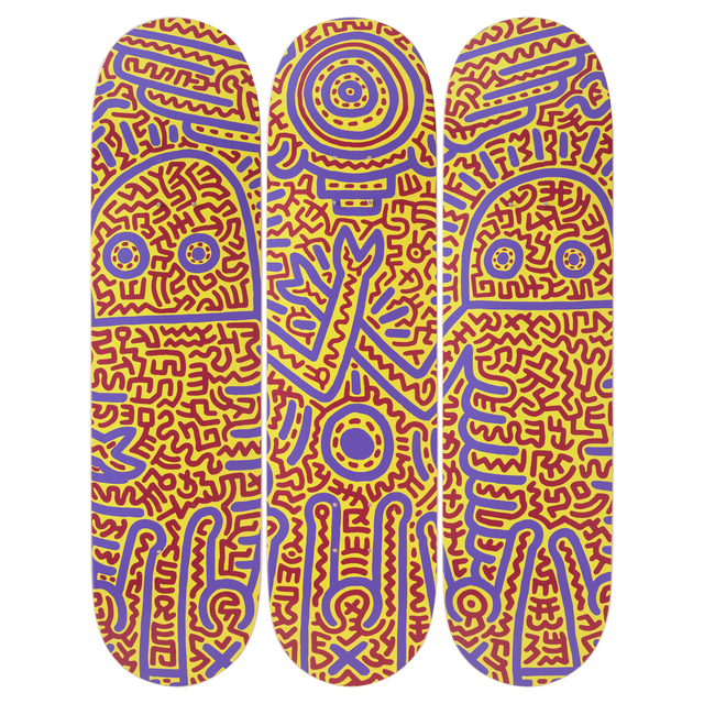 Keith Haring, 'Untitled (1984) Skateboard Decks', 2019, Design/Decorative Art, 7-ply Canadian Maplewood with screen-print, Artware Editions