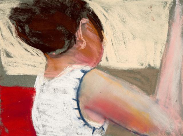 Chantal Joffe, 'Esme Sewing I', 2016, Monica De Cardenas