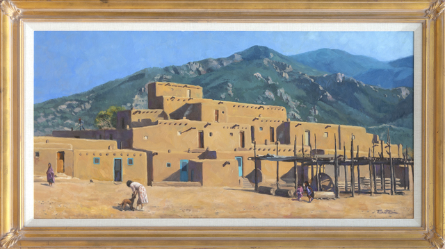 Unknown, 'Pueblo Houses Before a Hill', ca. 1960, RoGallery