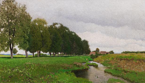 Ferdinand Brunner, 'Landscape with stream in Lower Austria', ca. 1920, Galerie Kovacek