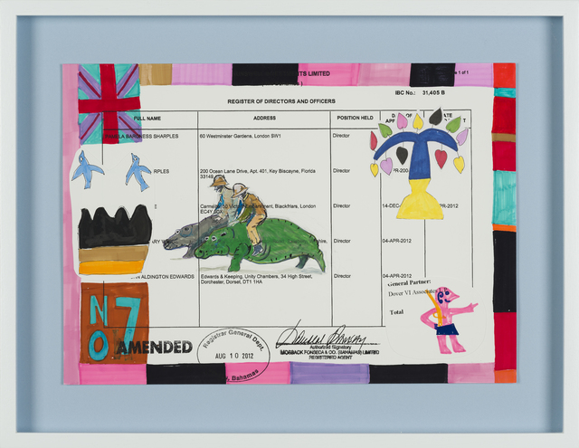 Carla Busuttil, 'Gaucho Hippo', 2019, Drawing, Collage or other Work on Paper, Mixed Media on Paper, Goodman Gallery