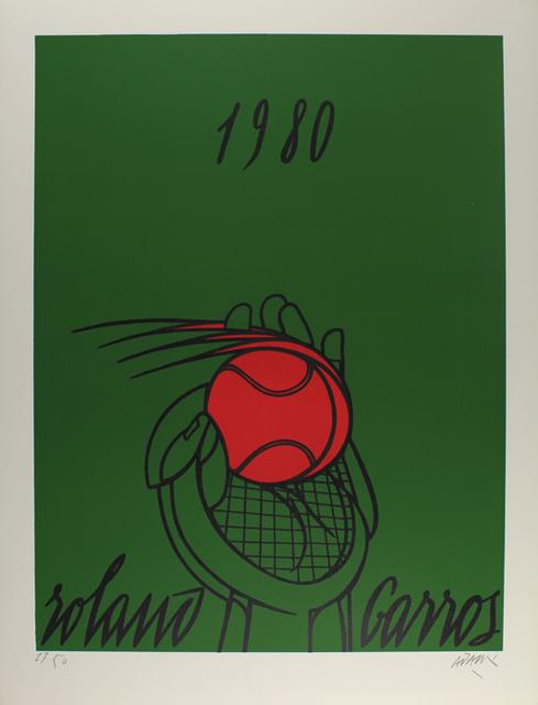 Valerio Adami, 'Roland Garros (vert)', 1980, Sylvan Cole Gallery