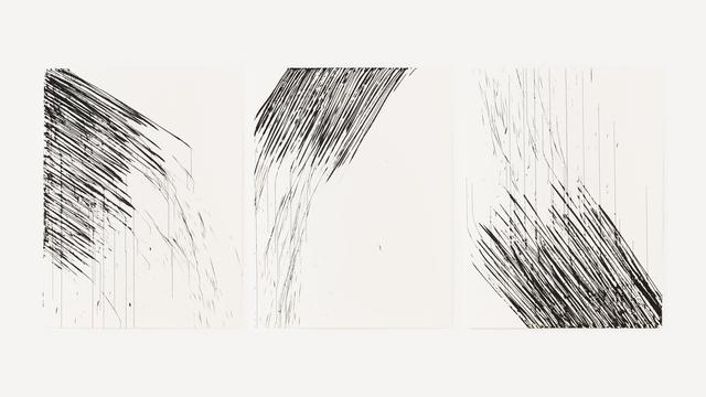 , 'Traçage triptyque,' 2016, Leeahn Gallery