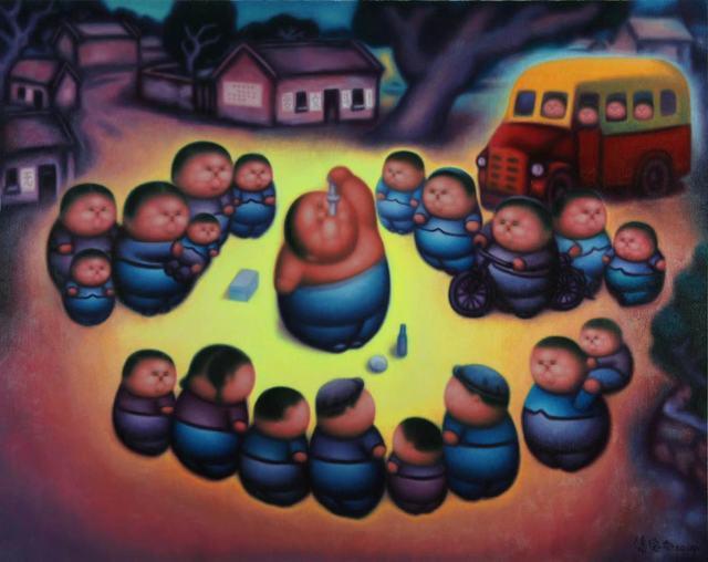 Pan Dehai, 'Human theatre', 2019, Yang Gallery