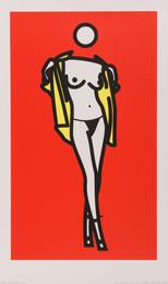 Woman taking off man's shirt, 5