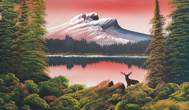 , 'Untitled (Mountain lake with deer),' 1945, Contemporary Art Gallery