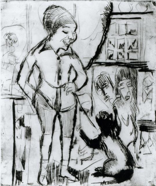 , 'Bube mit Katze (im Wohnzimmer Wildboden),' 1924, Henze & Ketterer