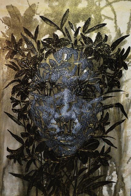 Uttaporn Nimmalaikaew, 'Black flowers No.1', 2019, S.A.C. Gallery Bangkok