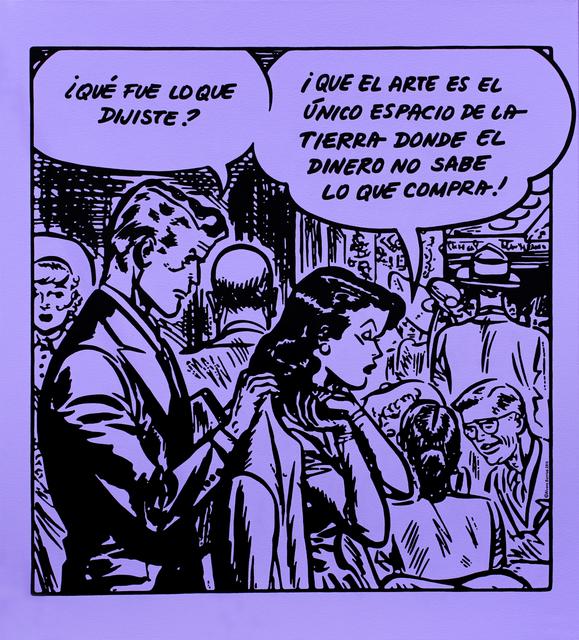 , 'Sin título (El dinero no sabe lo que compra),' 2015, Fernando Pradilla/El Museo