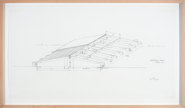 Alice Aycock, 'Architectural Project, Summer ´73, (Low Building with Dirt Roof)', 1973-2012, Galerie Thomas Schulte
