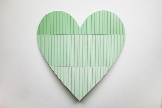 , 'Heart 3 (Green),' 2016, Cade Tompkins Projects