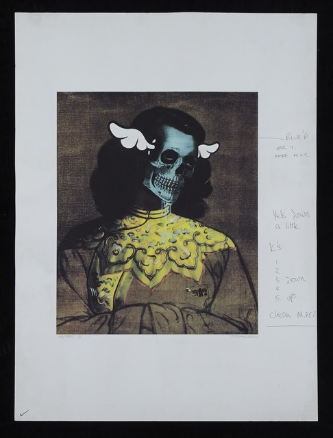 , 'Green Lady, Test Print (with annotations), 2007, 1/6,' 2007, StolenSpace Gallery