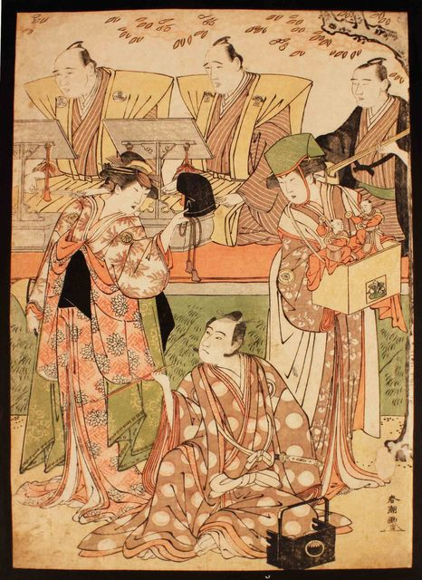 , 'Actors, Chanters and Musicians Staging the Play Mystery of Mysteries (Japan),' 1789, Newark Museum