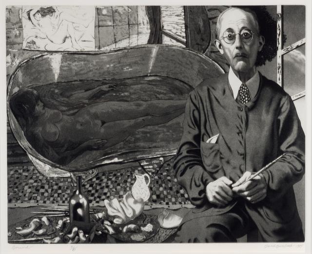 David Bumbeck, 'Bonnard ( French avant garde artist Artist Pierre Bonnard)', 1985, Stone + Press Gallery