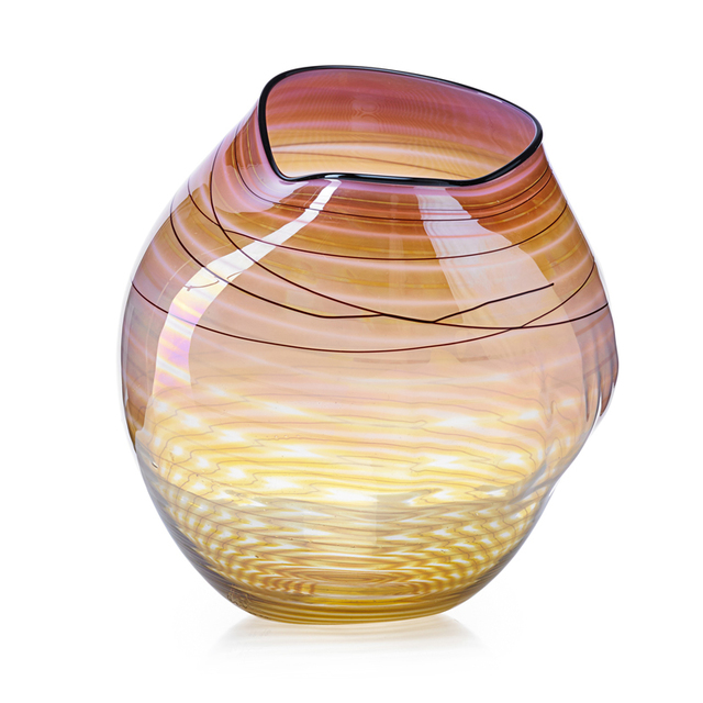 Dale Chihuly, 'Coral Basket with Black Lip Wrap, Seattle, WA', 1998, Rago/Wright