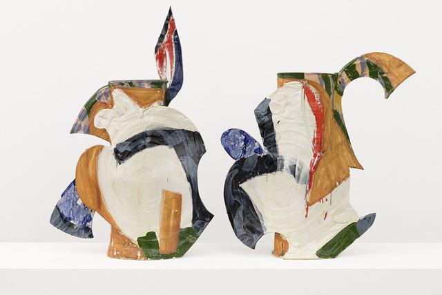 Betty Woodman, 'Athena Diptych Vase', 1994, David Kordansky Gallery