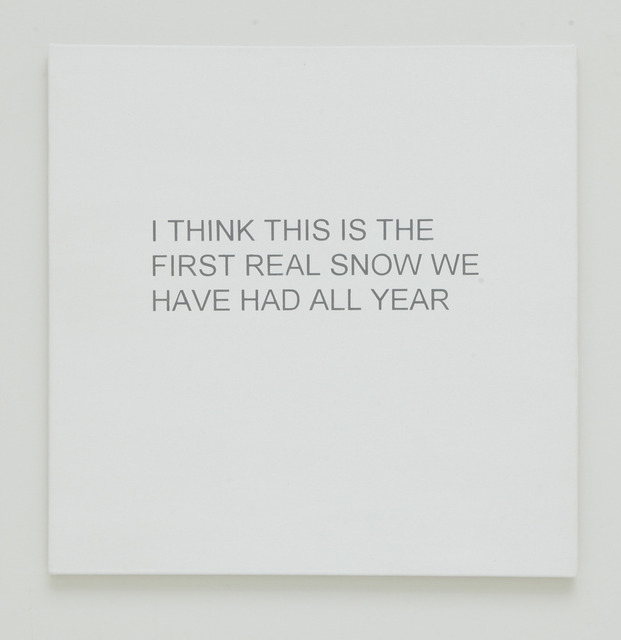 Allison L. Wade, 'Break-up Text Painting: I Think This is the First Real Snow', 2013, Rick Wester Fine Art