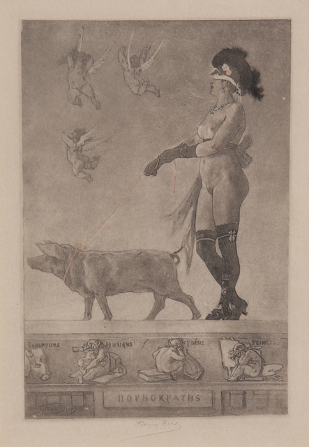 , 'LA DAME AU COCHON OU PORNOKRATES,' 1879, Gerrish Fine Art