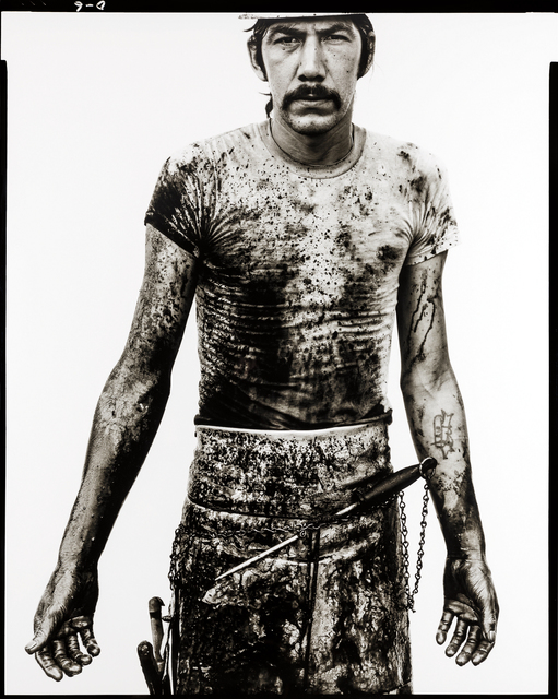 Richard Avedon, 'Blue Cloud Wright, slaughterhouse worker, Omaha, Nebraska, August 10, 1979', 1979, Phillips