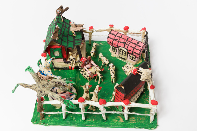 , 'Untitled (WH260 fenced yard with animals buildings),' , The Good Luck Gallery