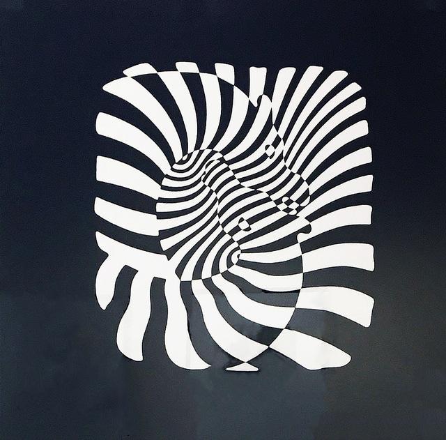 , 'Zebra Heads (White on black),' , Madelyn Jordon Fine Art