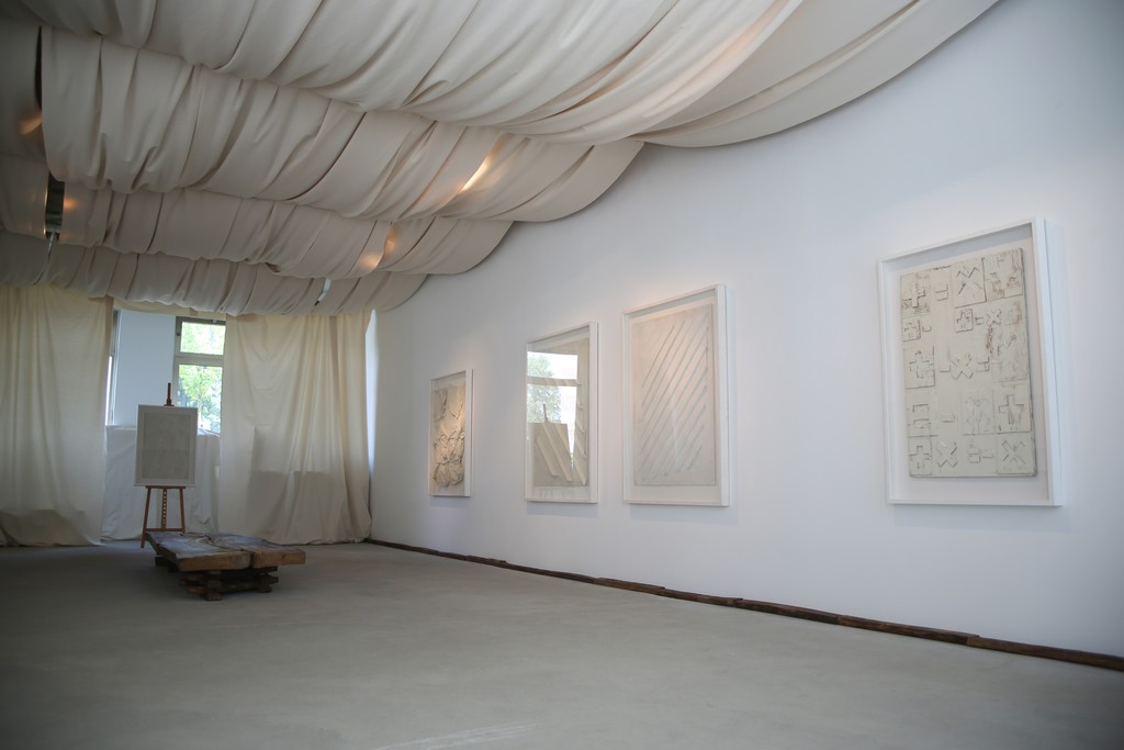 Installation view, Herbert Zangs, White is the loneliest colour, Engelage & Lieder, 2016