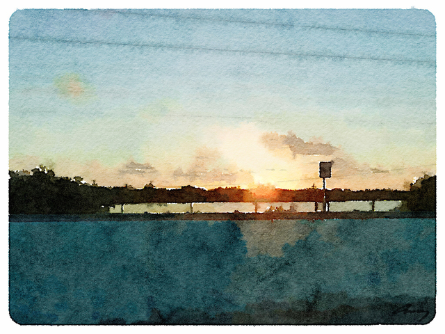 Anne M Bray, 'Sunset on US1, FL', 2014, TAG Gallery