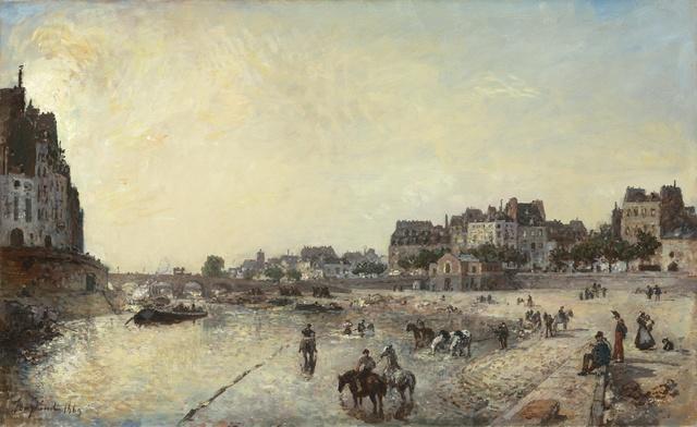 , 'Le Quai des Célestins,' 1869, Stoppenbach & Delestre