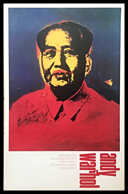 Andy Warhol, 'Mao ', 1977, Print, Rare offset lithograph exhibition poster on rag paper. Unframed., Alpha 137 Gallery