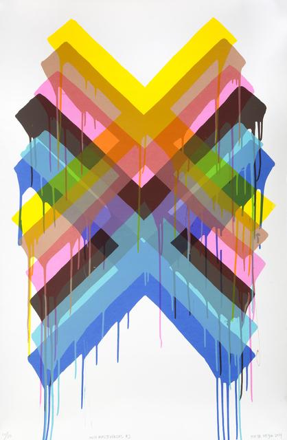 Maya Hayuk, 'Multiverses #2', 2014, Print, Screenprint on paper, Julien's Auctions