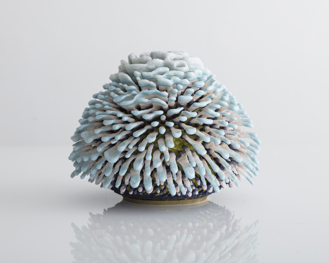 ", 'Unique, hand-thrown ceramic ""Jax"" Urchin with Porcelain Accretion,' 2017, R & Company"