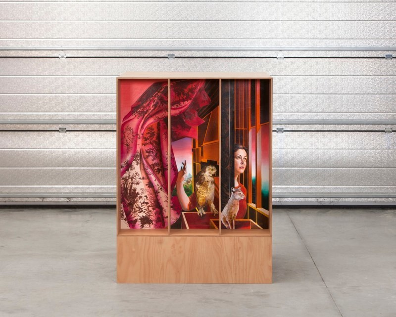 Susanne Kühn & Inessa Hansch, Bildbox, 2014, wood and acrylic on wallboard, 130 x 100 x 120 cm