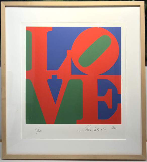 Robert Indiana, 'LOVE, (Red, Purple, Green) from The Book of Love portfolio', 1996, Woodward Gallery