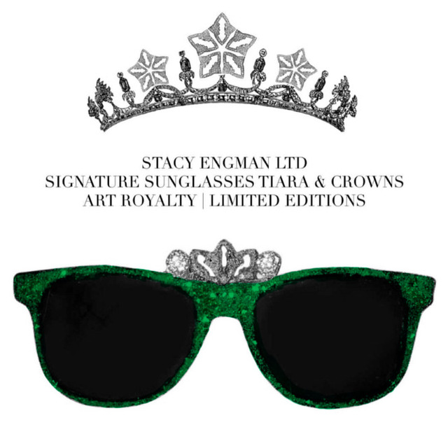 , 'Sunglasses-Crown Emerald & Diamond Dust .50 CT Real Diamond Dust (diadem), 3 CT Emerald Dust,' , ART CAPSUL