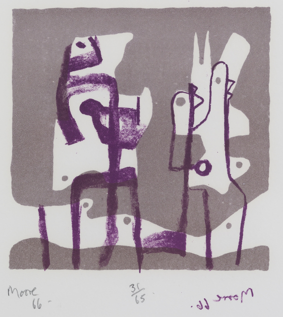 Henry Moore, 'Two Upright Motives', 1966, Print, Lithograph in two colors, Childs Gallery