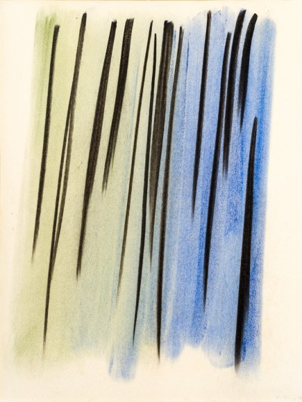 Hans Hartung, 'Composition abstraite', 1957, Drawing, Collage or other Work on Paper, Pastel and pencil on paper laid down on canvas, BAILLY GALLERY