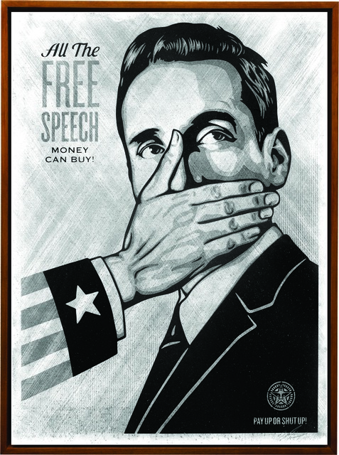 Shepard Fairey, 'Pay Up or Shut Up', 2015, Underdogs Gallery