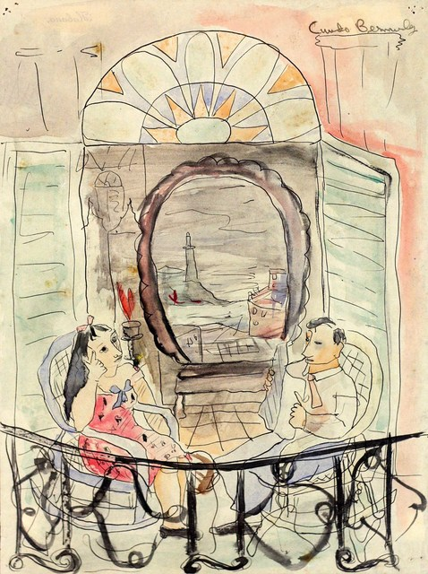 , 'Couple on Balcony,' ca. 1942, Pan American Art Projects