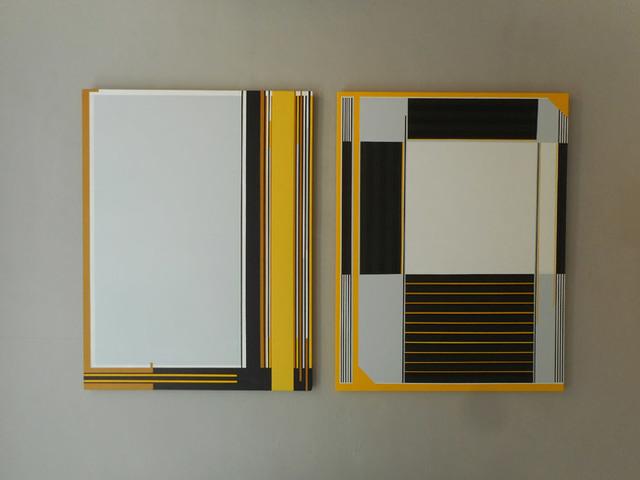 , 'Dyptique - noir - jaune - gris clair / Art Construit,' 2017, Galerie Marie-Robin