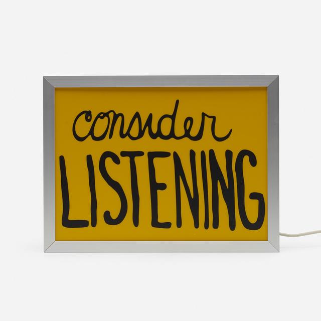 Sam Durant, 'Consider Listening', 2017, Wright
