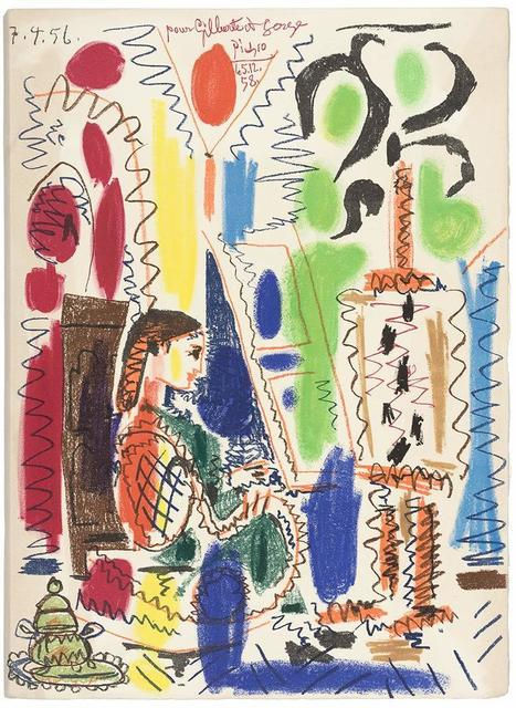 Pablo Picasso, 'L'Atelier De Cannes (B. 794)', 1956, Print, Color lithograph, on Arches paper, Doyle