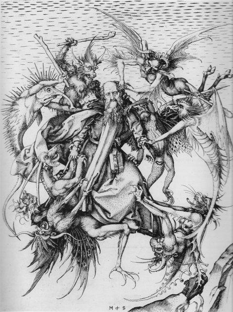 Martin Schongauer, 'Demons Tormenting Saint Anthony', ca. 1480-90, The Metropolitan Museum of Art