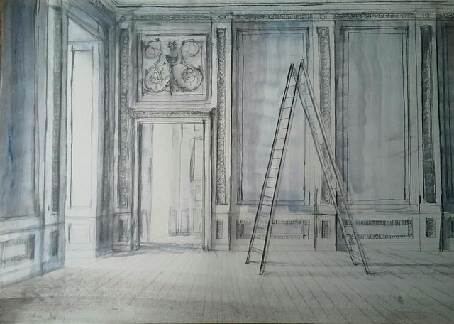 , 'Ladder in the Museum (Versailles),' 2018, Octavia Art Gallery