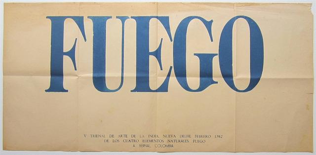 , 'Fuego,' 1982, Casas Riegner