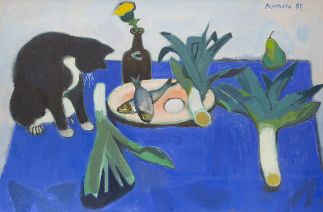 , 'Still Life with Black Cat,' 1985, The Scottish Gallery