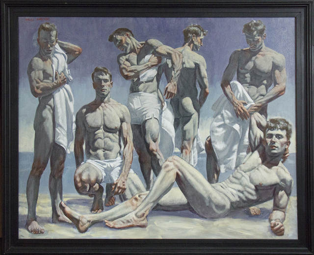 , '[Bruce Sargeant (1898-1938)] Group of Men on the Beach,' , ClampArt