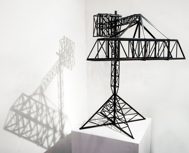 , 'Abstract Model Series #5 (Simple trussed bridge elevated by crane with triangular base),' 2015, OTA Contemporary