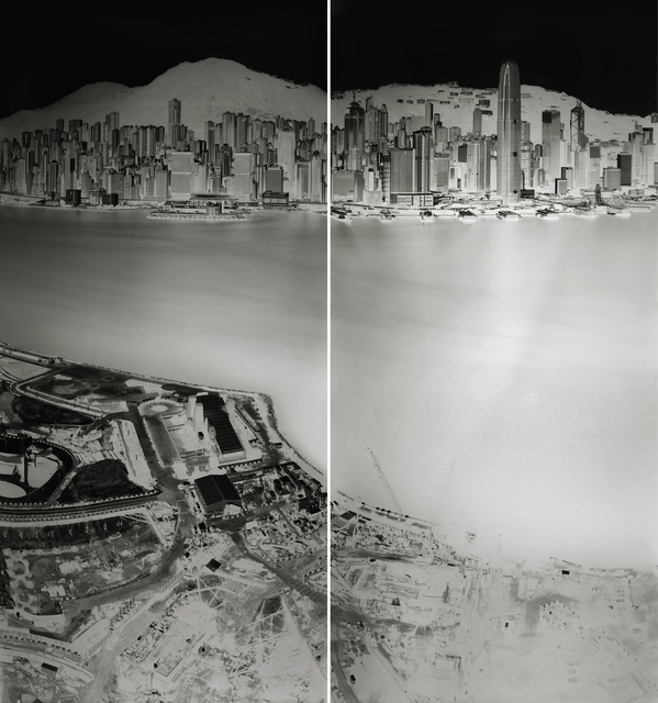 , 'To see Hong Kong Island from Kowloon 19-20 July 2016 (diptych),' 19, 10 Chancery Lane Gallery