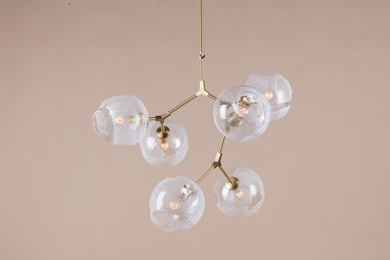 BB.06.04 Branching Bubble Chandelier